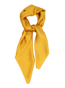 Mustard Yellow Scarf Thin Silky Womens Summer Spring