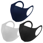 6 Pack Mix Colour Black Navy Grey Reusable Fabric Face Masks Covering Washable Adult Size