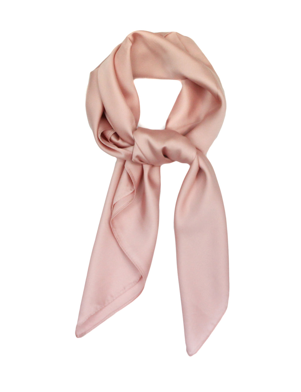 Blush Pink Scarf Thin Silky Womens Summer Spring