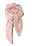 Blush Pink Llama Patter Womens Thin Spring Silk Scarf