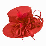 Caprilite Large Ladies Occasion Hats for Weddings Brim Top