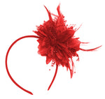 Small Red Fascinator on Headband by Caprilite UK Online Store