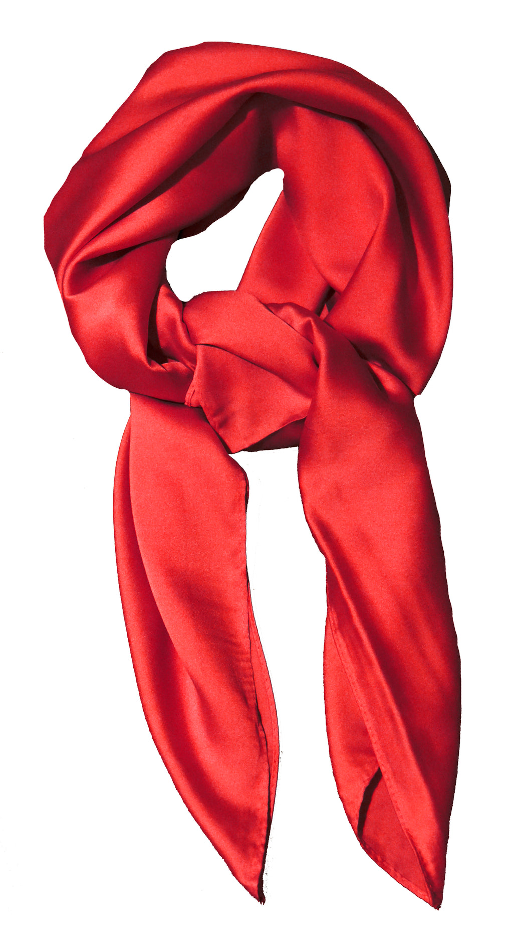 Plain Scarlet Red Scarf Thin and Silky for Summer and Spring