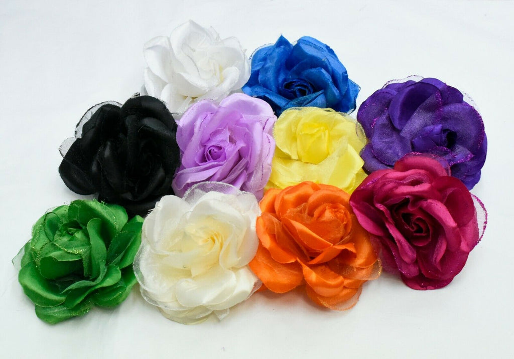 5 x Rose Millinery Flower for Hats Fascinators 10cm Trimmings Embellishments