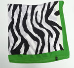 70cm x 70cm Square Scarf Green Zebra Print Pattern Scarf Thin Silky Womens Summer Spring