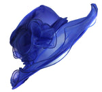 Royal Blue Large Organza Brin Hatinator Fascinator Hat