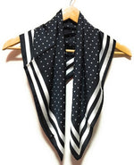 Black and White Polka Dot Scarf for Women
