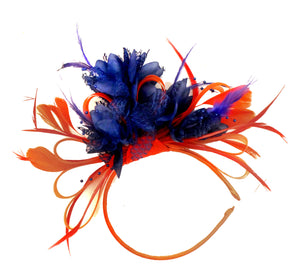 Caprilite Red and Navy Fascinator on Headband Ascot Wedding Derby Races