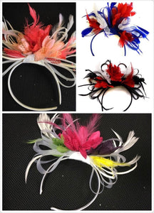 Caprilite Caprilite Bespoke Fascinator on Headband for Weddings and Ascot Races - 3 colours