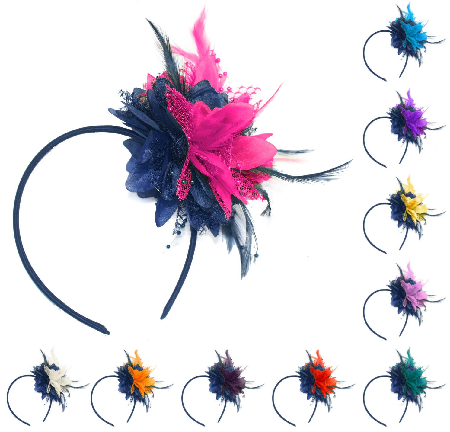 Caprilite Bespoke Fascinator Corsage for Weddings and Ascot Races