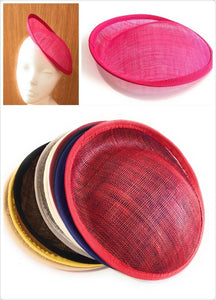 Caprilite Caprilite 20cm Round Sinamay Dipped Fascinator Base Hat Millinery DIY Supply Wholesale UK