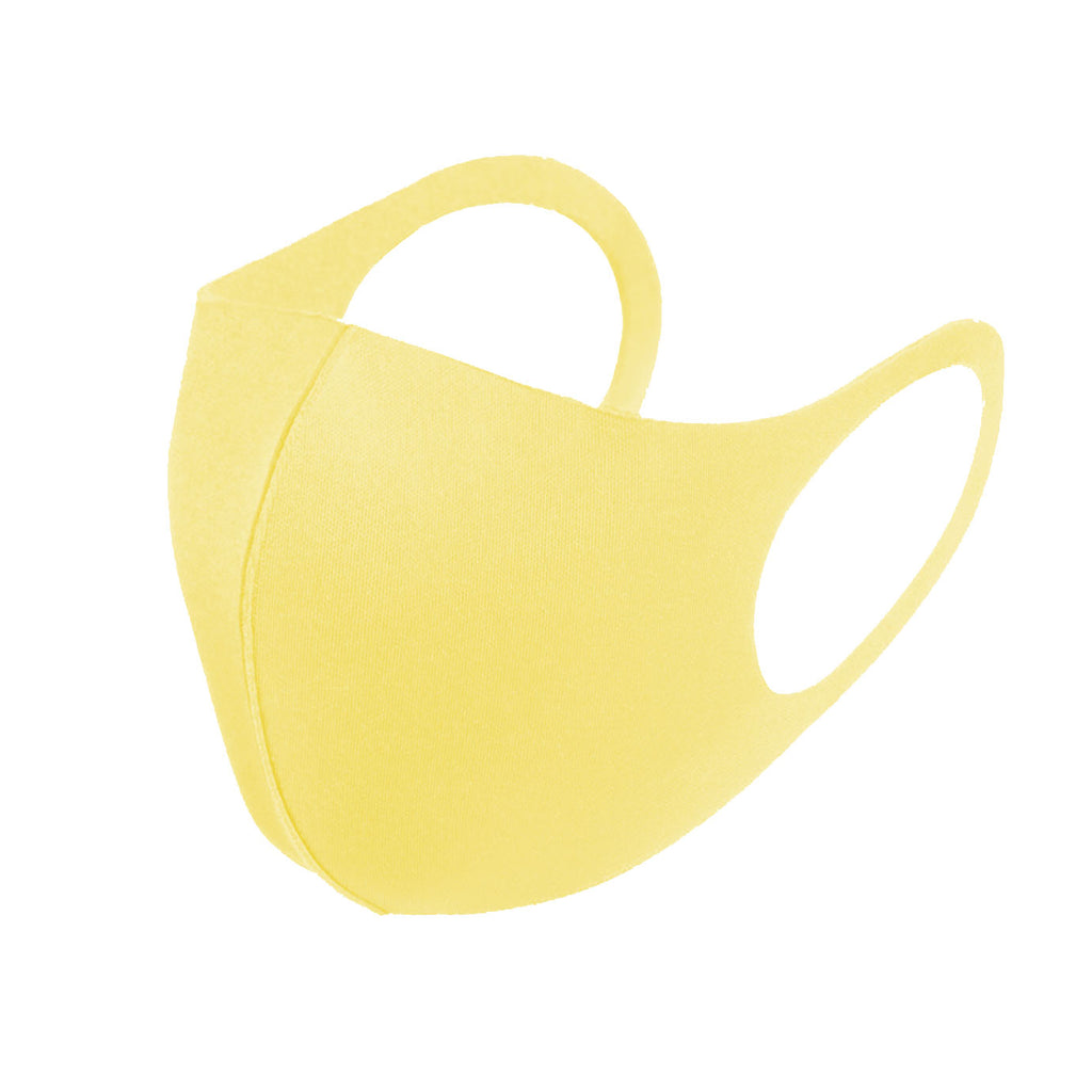 6 Pack Yellow Lemon Reusable Fabric Face Masks Covering Washable Adult Size