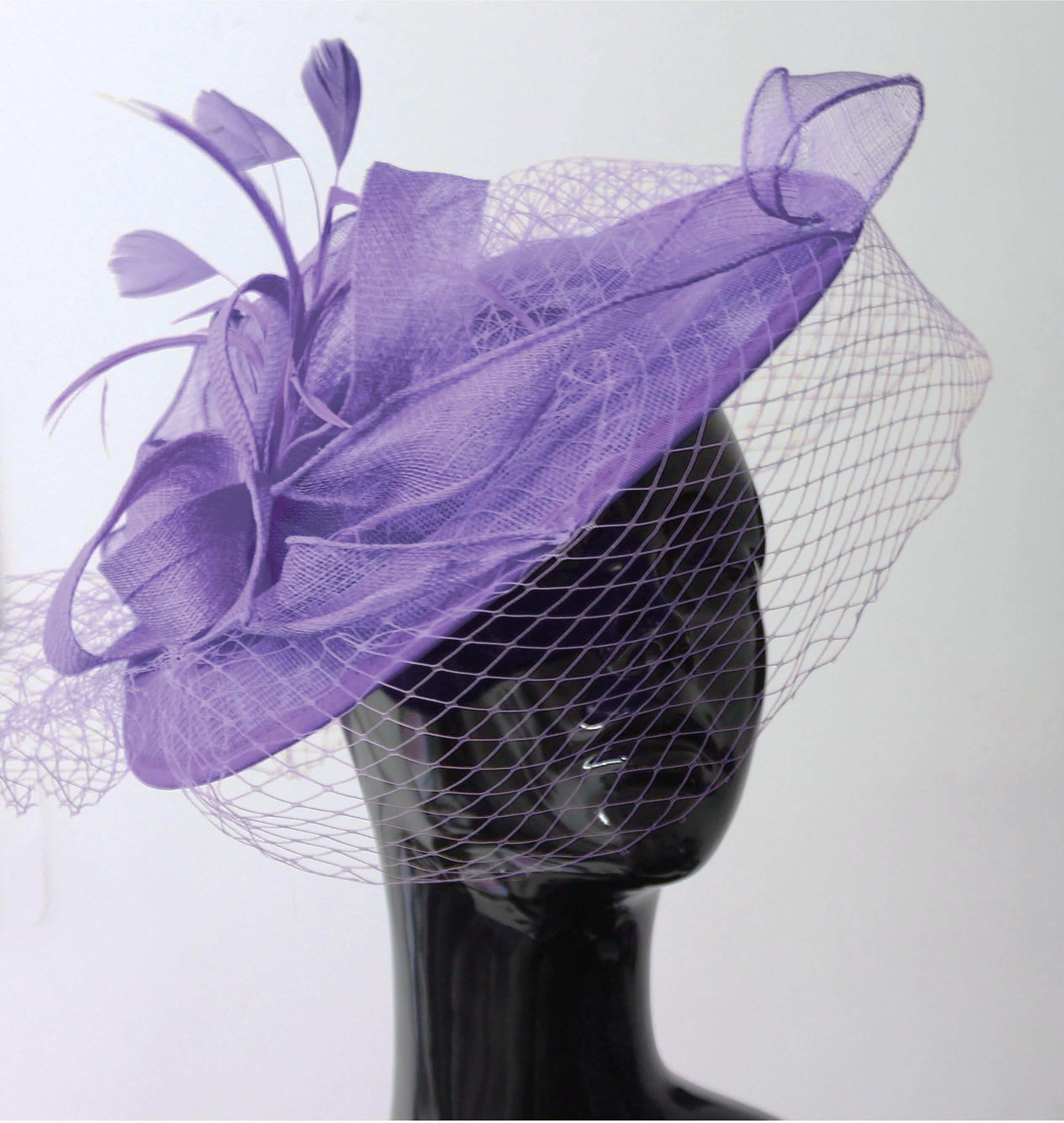 7827817d Caprilite Big Saucer Sinamay Birdcage Veil Fascinator On Headband Wedding  Derby Ascot Races Ladies Hat