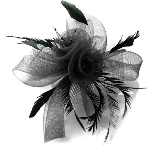 Black The Butterfly Fascinator on Comb