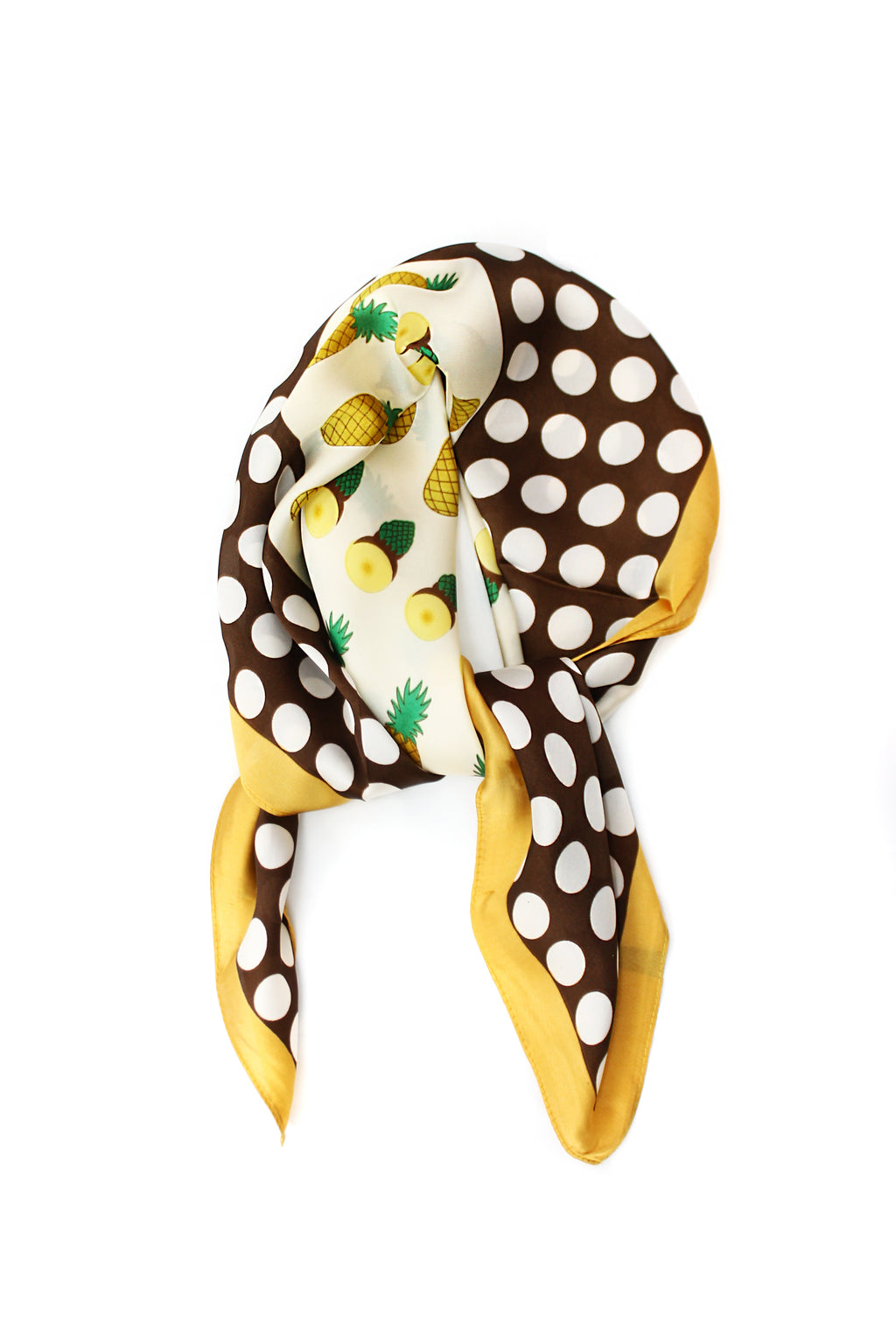 Pineapple Polka Dots Silky Thin Summer Spring