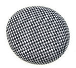 Hounds Tooth Black and White Print Round Sinamay Felt Fascinator Base Pillbox Hat DIY Supplies Wholesale UK