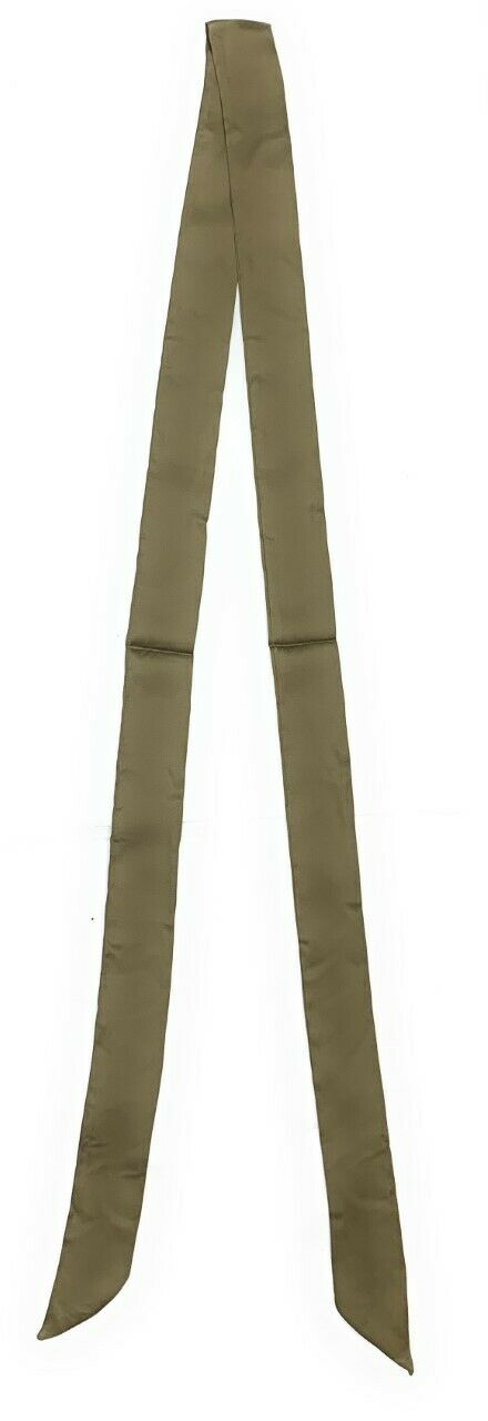 Women Skinny Scarf Satin Faux Silk Long Slim Ribbon Thin Fashion Ladies Scarves[Khaki Green]