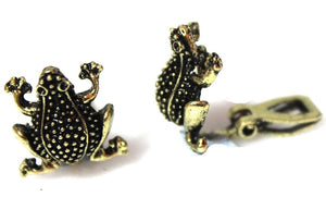 Bronze Frog Clipon Clip-on Earrings Womens Ladies Goth Kids Girls UK Caprilite Online Shop Kids Childrens