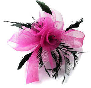 Fuchsia and Black The Butterfly Fascinator on CLIP or Headband