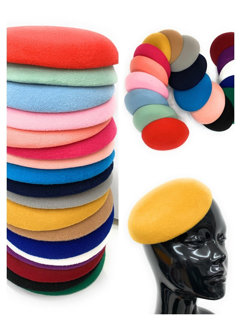 Quality Round Sinamay Felt Fascinator Base Pillbox Hat DIY Supplies Wholesale UK