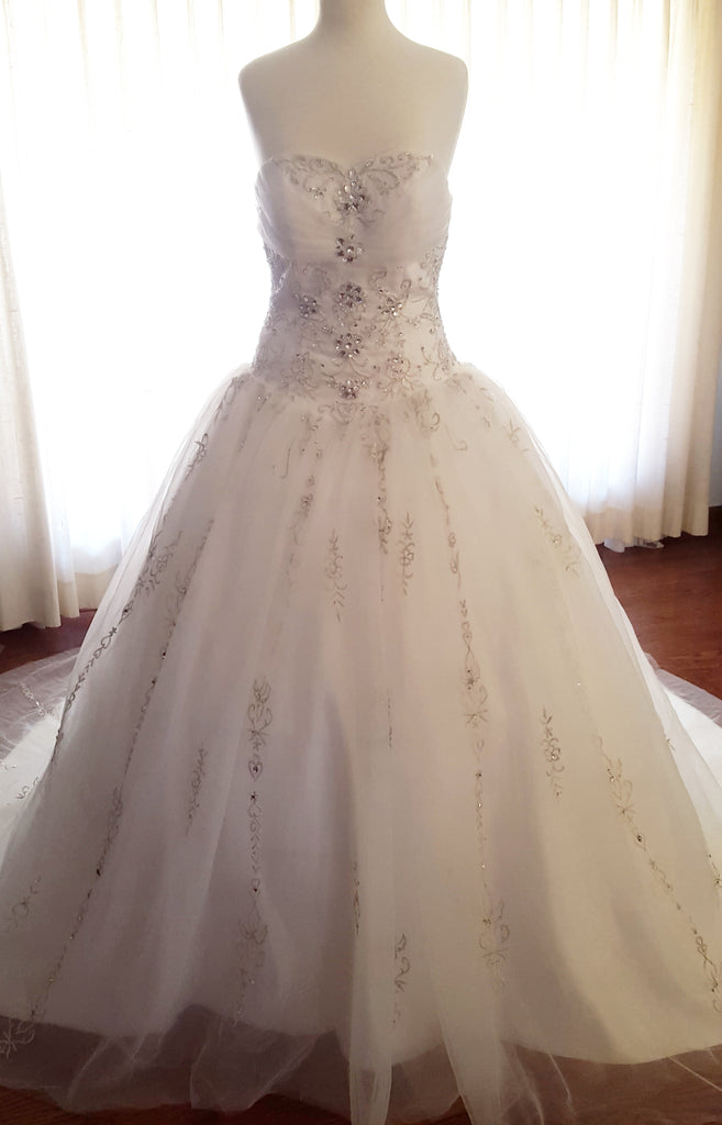Crystal Ball Gown Wedding Dress