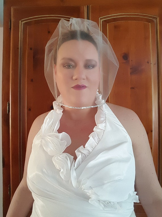 Birdcage Wedding Veil Swarovski Crystals