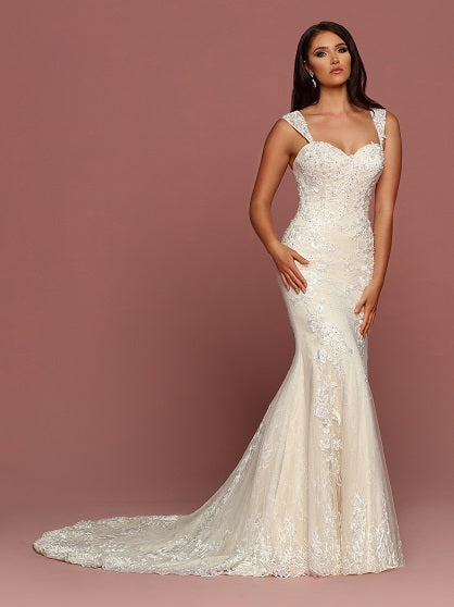 DaVinci Fit and Flare Sheath Wedding Dress Style #50495