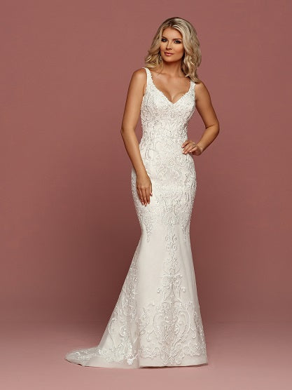 DaVinci Fit and Flare Sheath Wedding Dress Style #50504