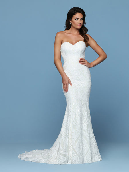 DaVinci Fit and Flare Wedding Dress Style #50543