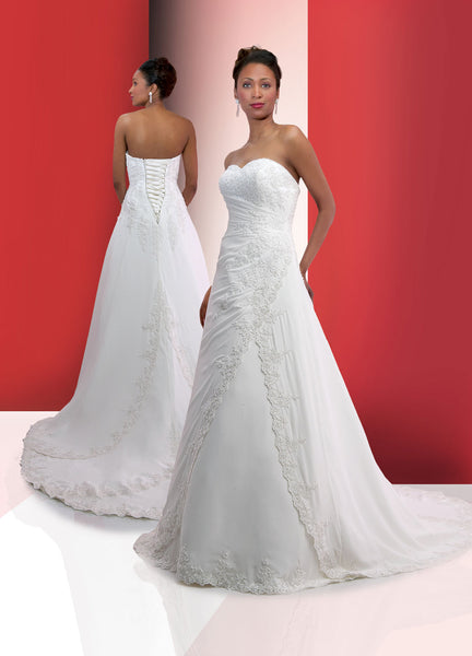 Sample DaVinci A-Line Wedding Dress Style #8307