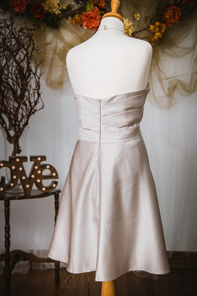 Silver Strapless Dress