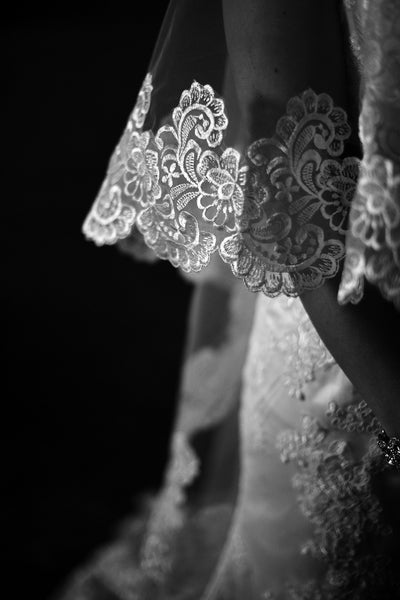 Lace Mantilla Drop Wedding Veil