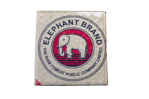 Recycled / Upcycled Card Holder. Handmade in Cambodia from recycled cement sacks. Elephant Design