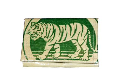 Recycled / Upcycled Medium Purse. Handmade in Cambodia from recycled cement sacks. Green Tiger Design