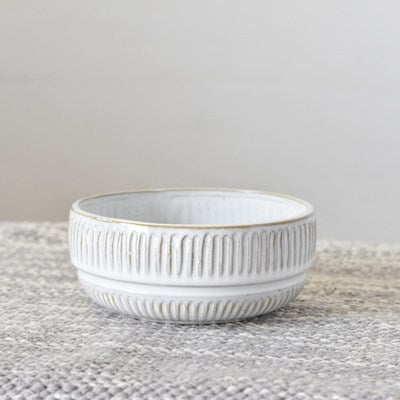 Ceramic Soft White Stoneware Bowl