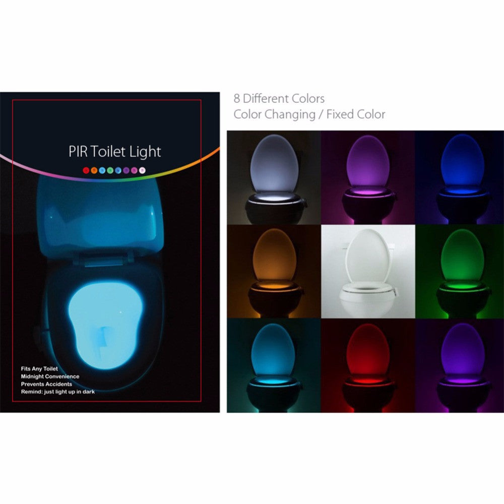 Automatic Toilet Seat Light with Motion Detector