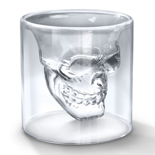 2 Doomed  Skull Shot Mug Glass