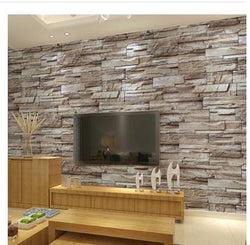 3D archaize brick waterproof wallpaper for bedroom background wall