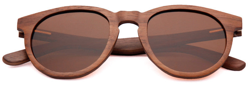 Wood Worn Cosmopolitan vintage Wooden Sunglasses in Black Walnut with brown lenses