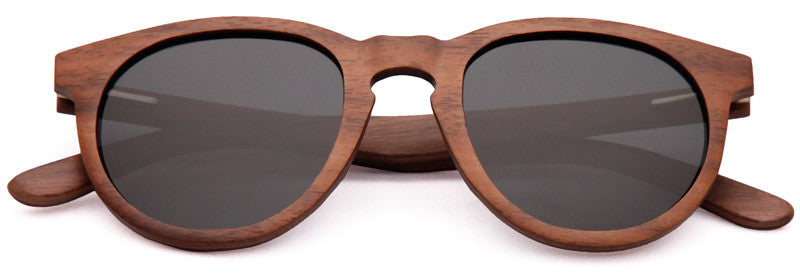 Wood Worn Cosmopolitan vintage Wooden Sunglasses in Black Walnut with dark grey lenses