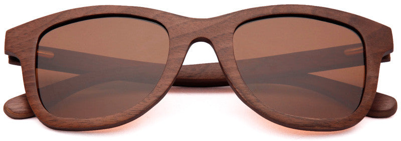 Wood Worn Storm Wayfarer Wooden Sunglasses in Black Walnut with brown lenses
