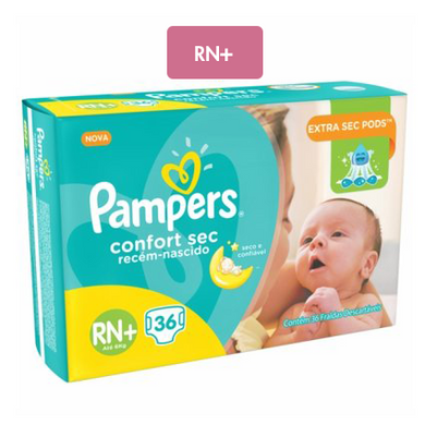 Pampers Confort Sec RN+