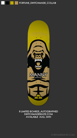 Autographed limited edition Switchmade x Fortune Manny Santiago deck