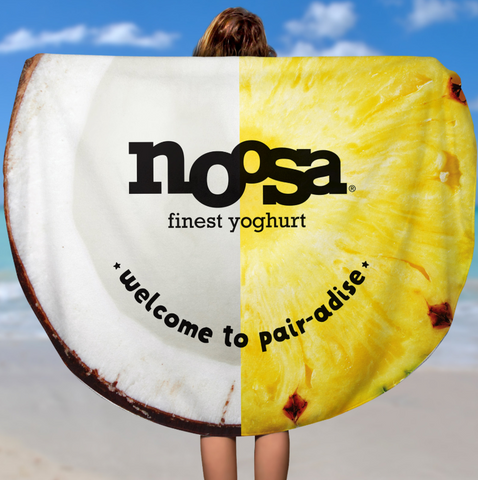 Round noosa beach towel