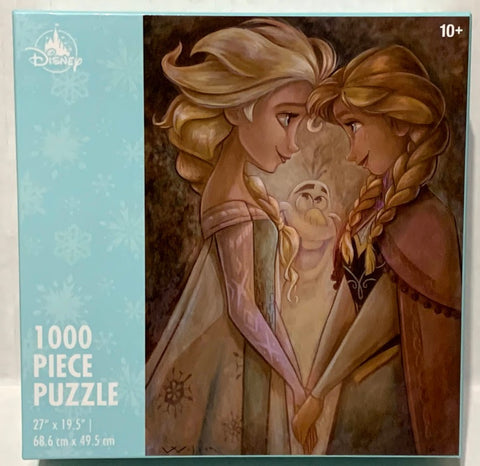 Anna Elsa and Olaf Frozen Disney Parks Puzzle