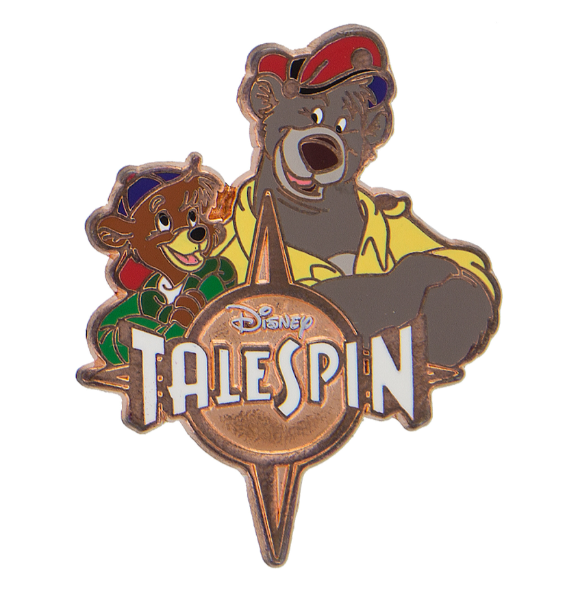 Baloo & Kit TaleSpin Disney Pin