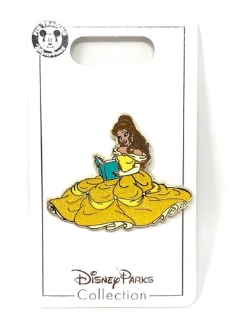 Belle Beauty and the Beast Glitter Dress Disney Pin
