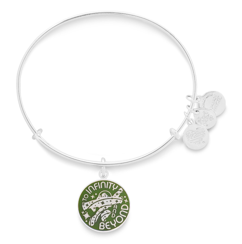 Silver Buzz Lightyear To Infinity and Beyond Alex & Ani Bracelet