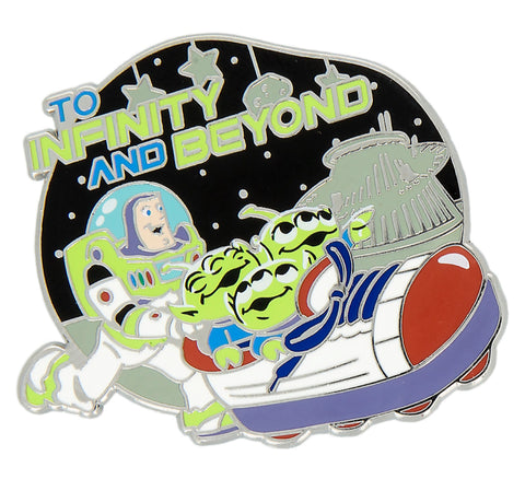 Buzz Lightyear and Aliens To Infinity and Beyond Disney Pin