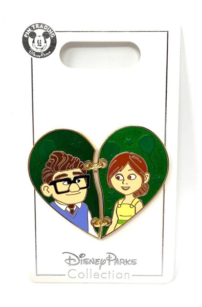 Carl and Ellie Up Stitched Heart Disney Pin